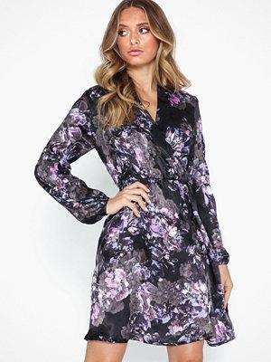 Vero Moda Vmemilia L/S Wrap Dress SB1 Svart