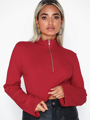 NLY Trend Ribbed Zip Top