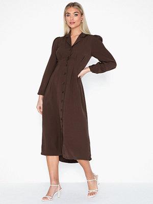 Selected Femme Slfmarianne Ls Midi Dress Ex