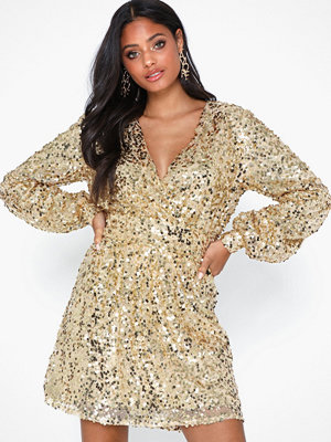 NLY Trend Puffy Sleeve Sequin Dress
