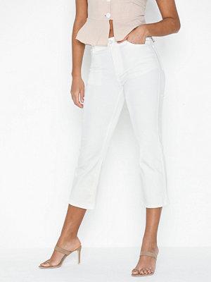 Vila vita byxor Vistilla Cropped Wide Jeans