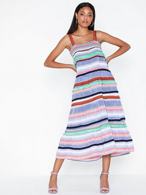 Only Onlhakun Ss Caff Stripe Dnm Dress