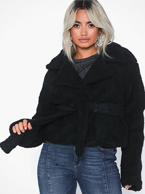 Missguided Belted Borg Jacket