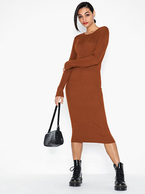 Vila Vibolonia Knit L/S Midi Rib Dress