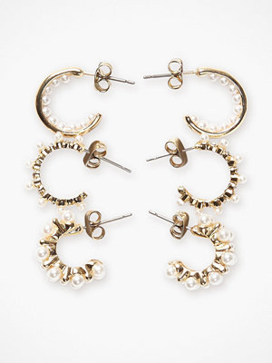 Pieces örhängen Pcnanami Hoop Earrings 3-Pack D2D P