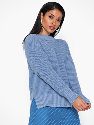 Selected Femme Slfbailey Ls Knit Slit O-Neck Noos