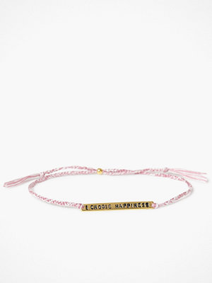 Santai armband I Choose Happiness Bracelet Dusty Pink