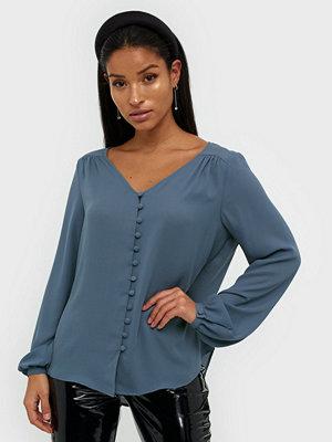 Vila Vilucy L/S V-Neck Button Shirt - Fa