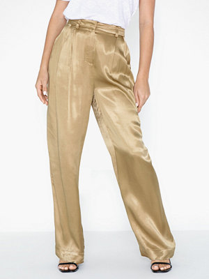 Selected Femme gula byxor Slfdakota Mw Wide Pant B