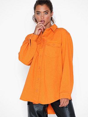 Missguided Oversized Denim Shirt Co Ord