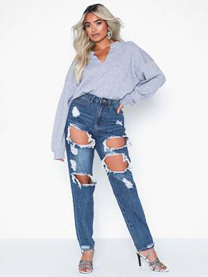Missguided Riot High Rise Ripped Jean