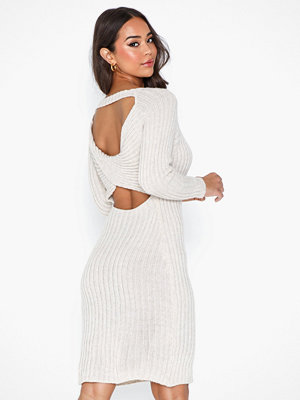 Parisian Twist Detail Jumper Midi Dress