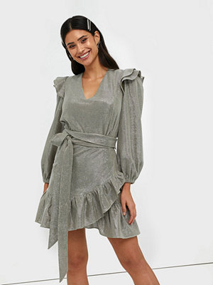 Adoore Belted Ruffle Dress