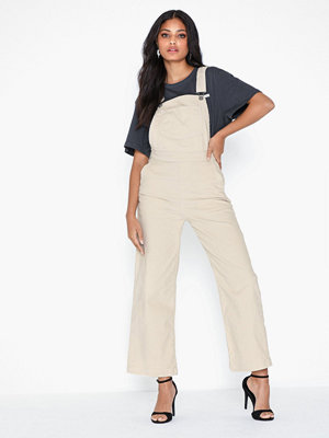 Levi's omönstrade byxor Ribcage Wl Crop Overall Ecru W