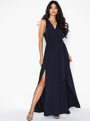 Ax Paris V Neck Side Split Maxi Dress