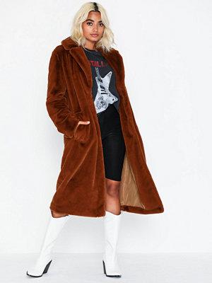 Fuskpälsjackor - Vila Vikoda Faux Fur Coat