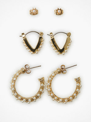 Pieces örhängen Pcnivi Hoop Earrings 3-Pack D2D