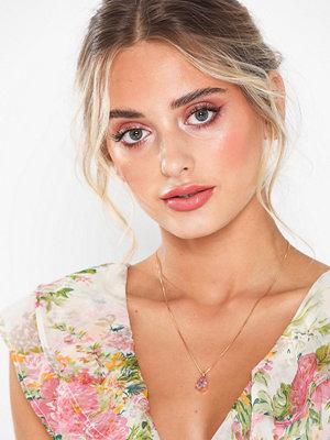 Caroline Svedbom halsband Mini Drop Necklace Rosa