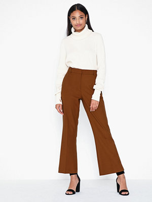 Selected Femme bruna byxor Slfada Mw Cropped Flared Pant B