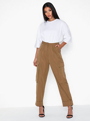 Missguided omönstrade byxor Pleat Front Hem Cargo Trousers