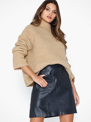 Selected Femme Slfsofia Hw Leather Skirt W