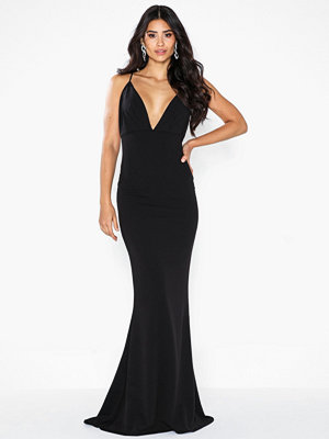 Missguided Pleated Bust Fishtail Maxi Dress