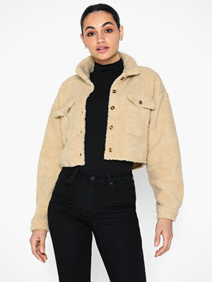 Missguided Borg Cropped Shirt