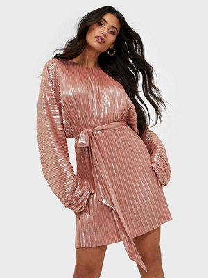 Adoore Sleeve Statement Dress Metallic