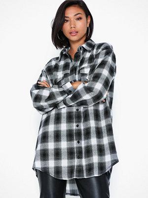 Missguided Brushed Oversized Basic Check Shirt