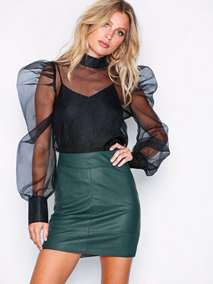 Only onlBASE Faux Leather Skirt Otw Noos Grön