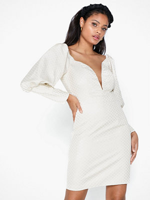 Rare London Jacquard Statement Sleeve Mini Dress