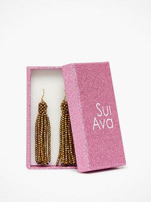 Sui Ava örhängen Alexis Crystal Tassel Guld