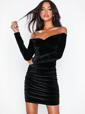 NLY Eve Rouched Rhinestone Dress