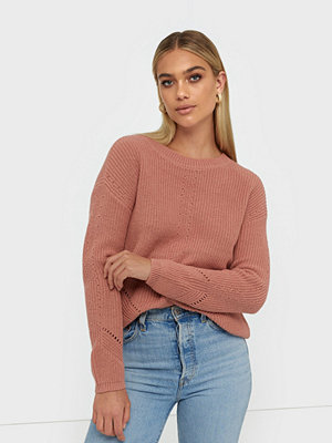Pieces Pckarie Ls O-Neck Knit Noos Rosa