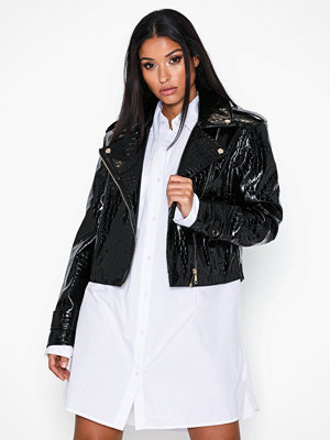 Skinnjackor - Ivyrevel Oversized Pu Croco Biker Jacket
