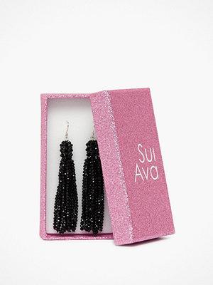 Sui Ava örhängen Alexis Crystal Tassel Svart/Silver