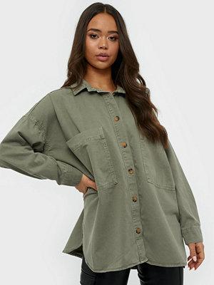 Skjortor - Gina Tricot Oversized Denim Shirt