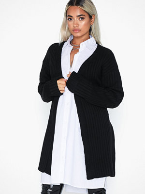 Cardigans - Missguided Extreme Rib Belted Cardigan