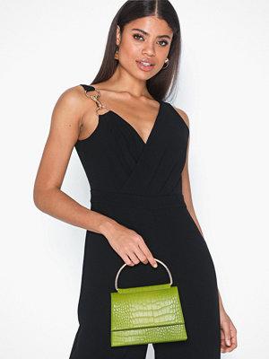 Missguided omönstrad axelväska Detail Snake Chain Boxy Handbag