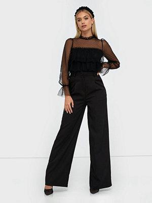 Missguided svarta byxor Wide Leg Trousers