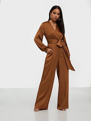 Closet Pleated Wrap Top Jumpsuit