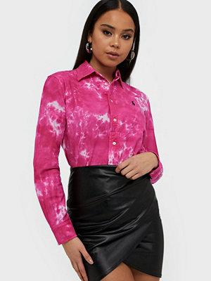 Polo Ralph Lauren Tie-Dye Oxford Shirt Dark Pink