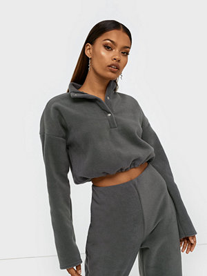 Missguided Fleece High Neck Crop Top