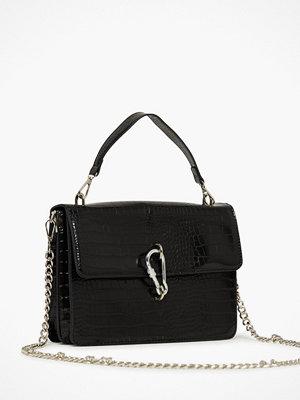 Missguided svart mönstrad axelväska Karabiner Detail Shoulder Bag