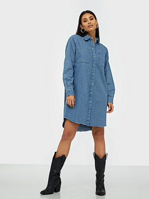 Pieces Pcnaoli Ls Denim Shirt Dress Bi-D2D