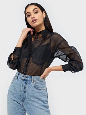 NLY Trend Organza Shirt Svart