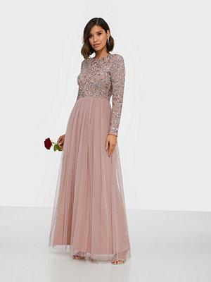 Festklänningar - Maya Embellished Bodice Long Sleeve Maxi Dress