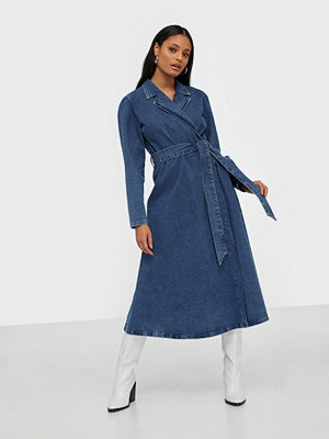 Selected Femme Slfharper Ls Fray Blue Denim Dress