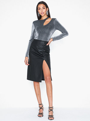 NLY Trend Draped PU Skirt