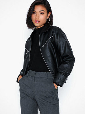 NLY Trend Cropped Zip Front Jacket
